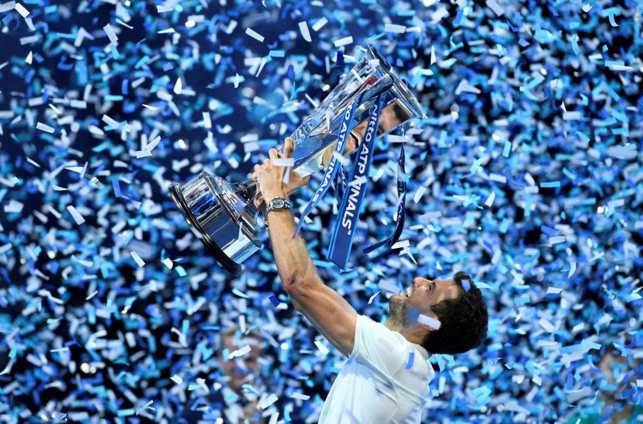 Praeitais metais ATP finaluose sensacingai triumfavo Grigoras Dimitrovas