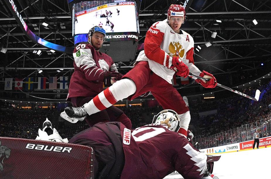 Latviai 1:3 nusileido Rusijos rinktinei.