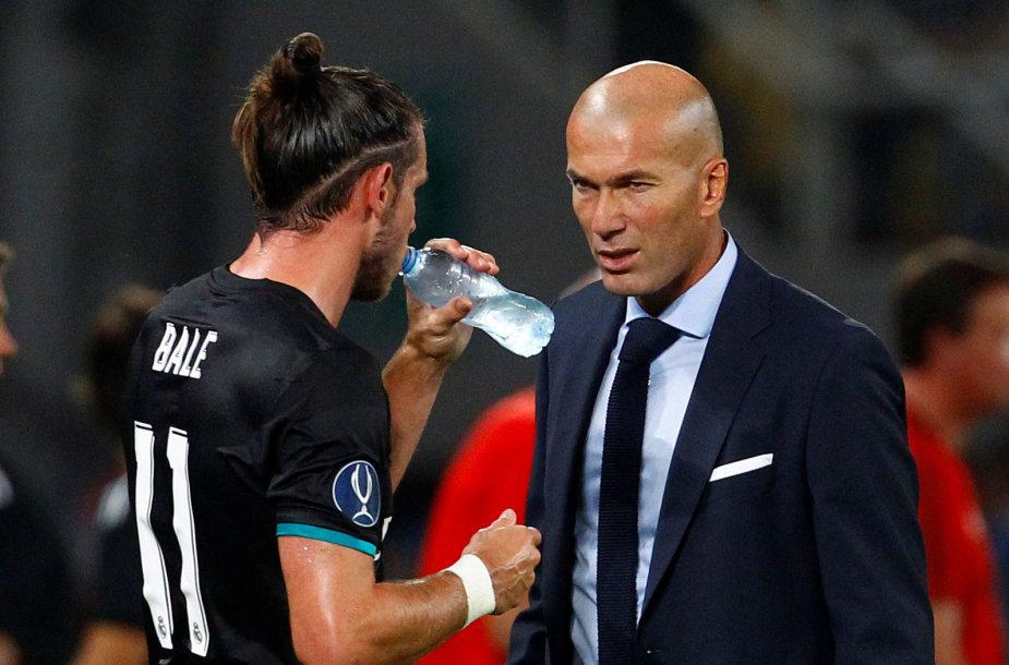 Zinedine'as Zidane'as ir Garethas Bale'as