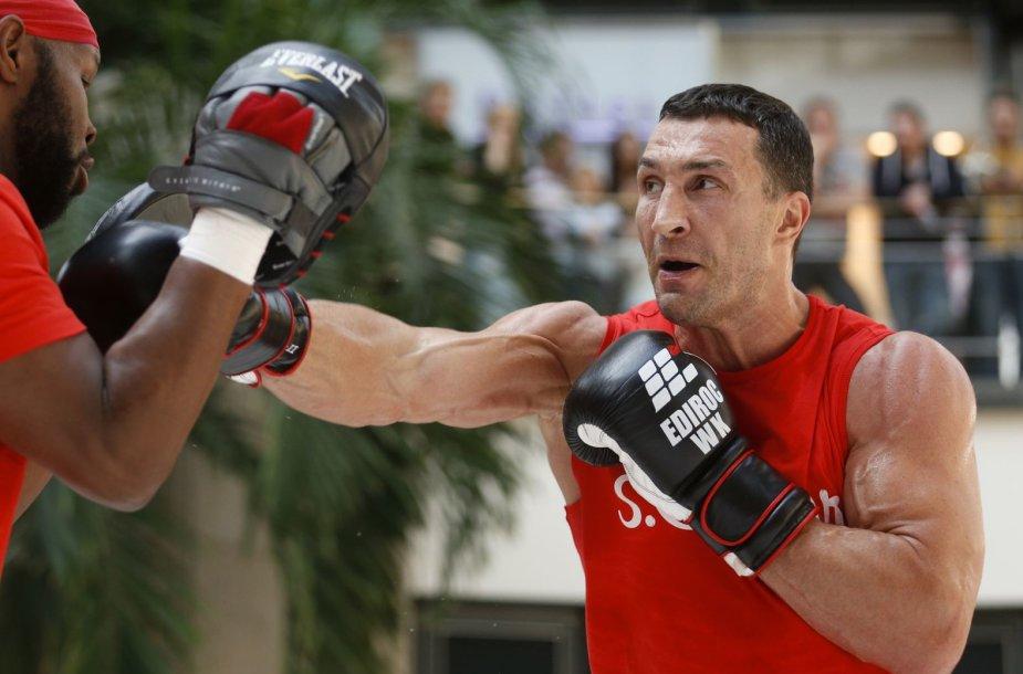 Vladimiras Klyčko treniruotės metu patyrė traumą