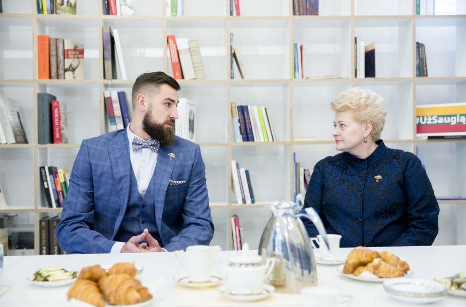 Jonas Valančiūnas ir Dalia Grybauskaitė