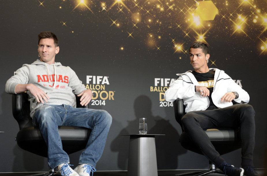 Lionelis Messi ir Cristiano Ronaldo