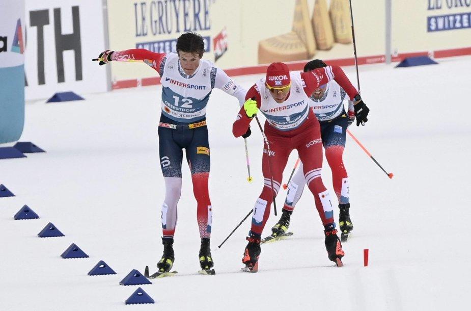 Incidentas pasaulio slidinėjimo čempionate 50 km lenktynėse.