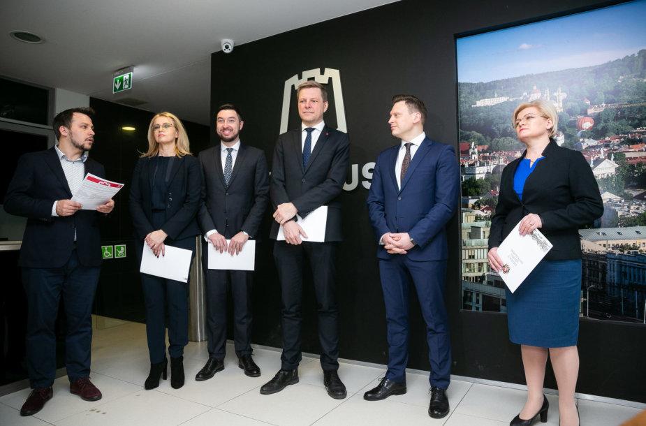 Naujosios Vilniaus miesto Tarybos valdančiosios koalicijos pristatymas