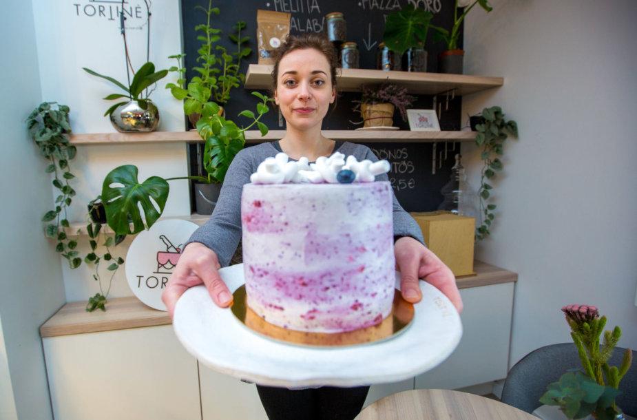 """""""Čiop Čiop Tortinės"""" mėlynių tortas"""