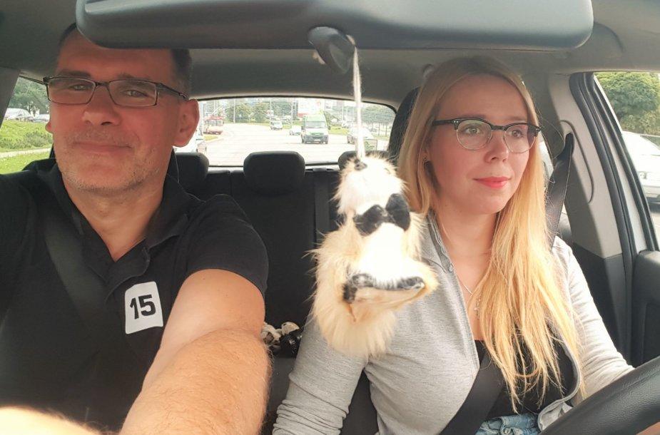 Jurgita Lapienytė ir Žilvinas Pekarskas išbandė naują važiavimo žiedais tvarką