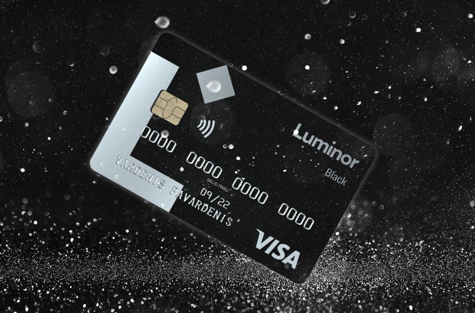 """""""Luminor Black"""" kortelė"""