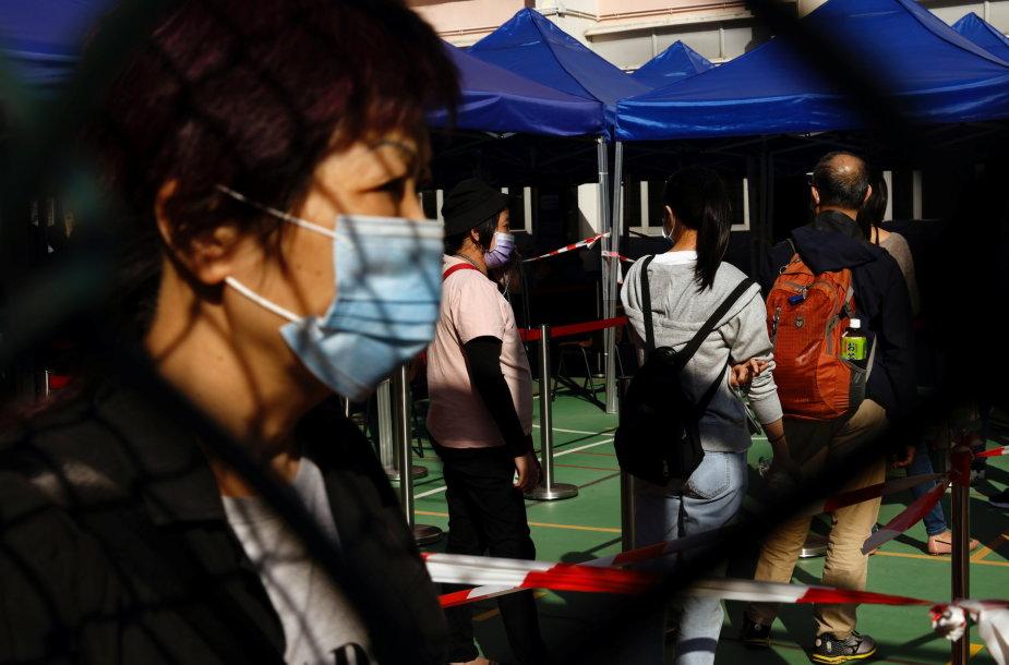 COVID-19 testavimo centras Honkonge