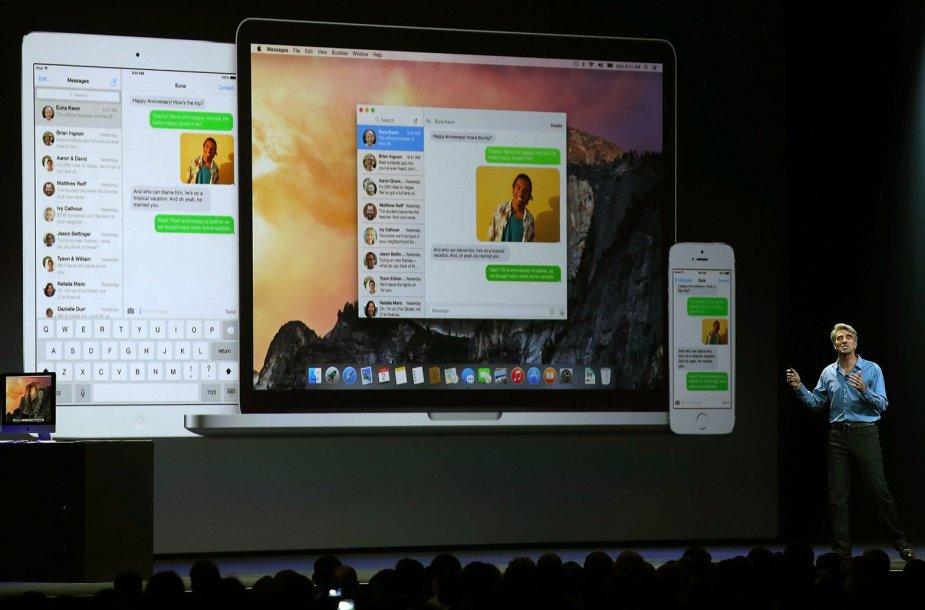 """Operacinės sistemos """"iOS 8"""" pristatymas"""