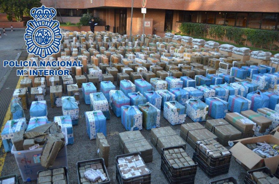 Ispanijoje konfiskuota 11 tonų hašišo