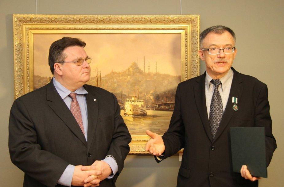Linas Linkevičius ir Petras Vaitiekūnas
