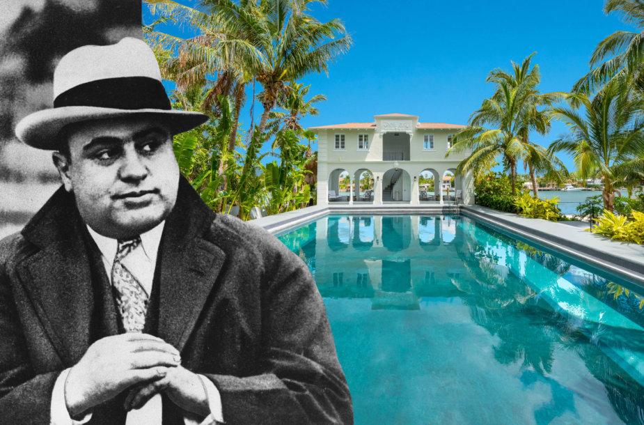 Parduodamas legendinio gangsterio Al Capone namas Majamyje