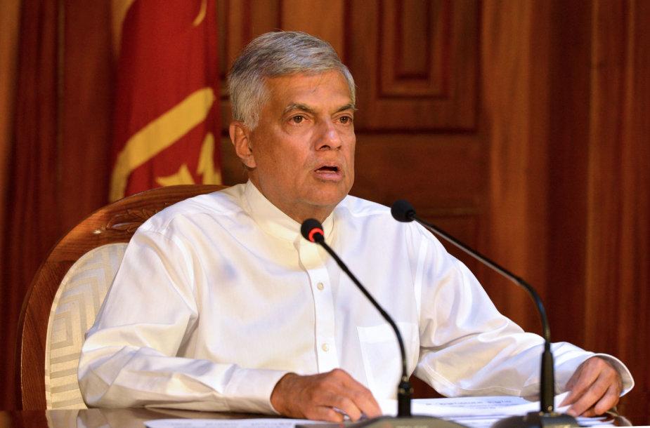 Šri Lankos premjeras Ranilas Wickremesinghe