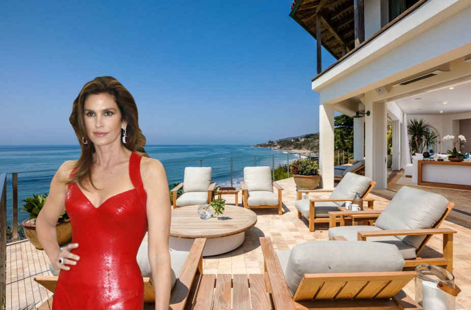 Cindy Crawford pardavė vilą Malibu už 45 mln. dolerius