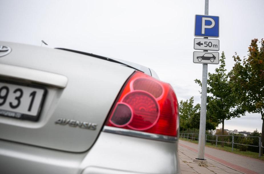 Automobilių stovėjimo aikštelės ženklas