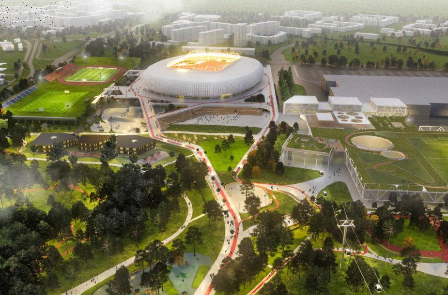 """""""Vilniaus nacionalinis stadionas"""" vizija"""
