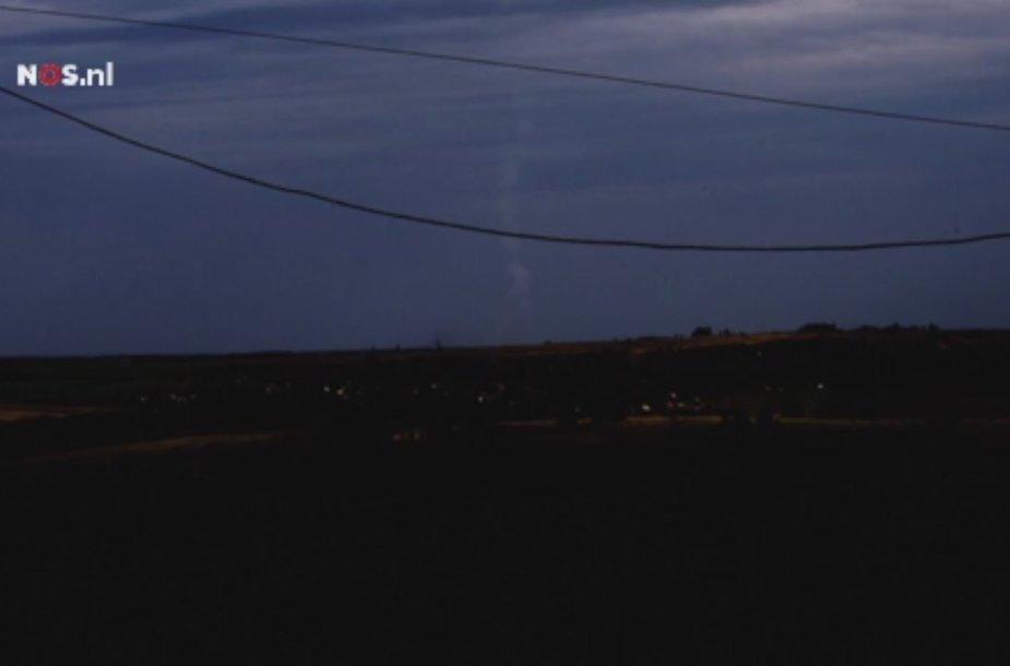 Pėdsakas, kurį danguje paliko BUK raketa