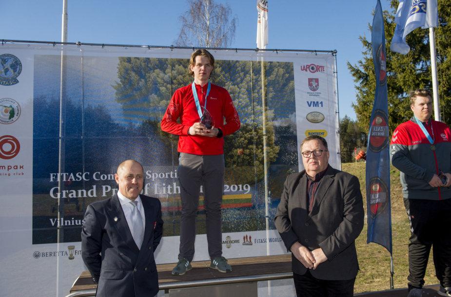 Christianas Rodas Karlsenas savaitgalį per FITASC pasaulio taurės etapą Vilniuje numušė 194 iš 200 taikinių