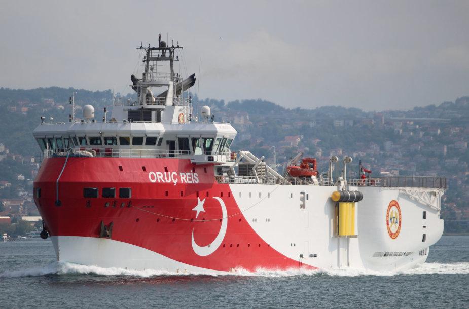 """Seisminių tyrimų laivas """"Oruc Reis"""""""