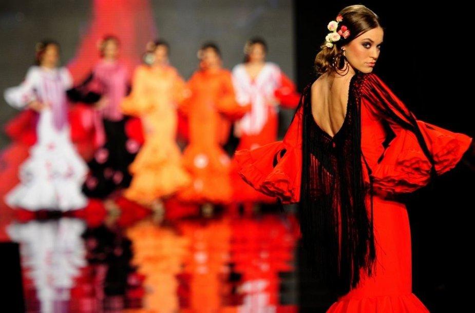 Tarptautinės flamenko mados savaitės akimirka