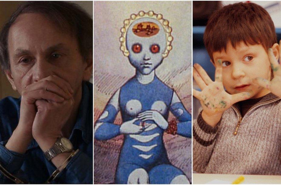 """Kadrai iš filmų """"Michelio Houellebecqo pagrobimas"""", """"Fantastiška planeta"""", """"Būti ir turėti"""""""