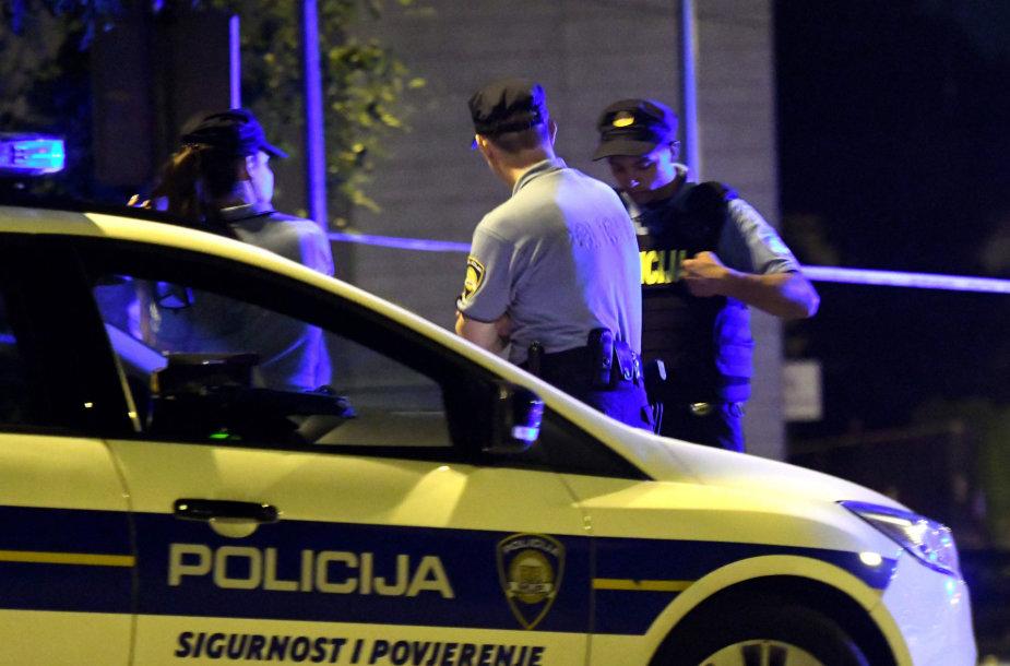 Zagrebo policija įvykio vietoje