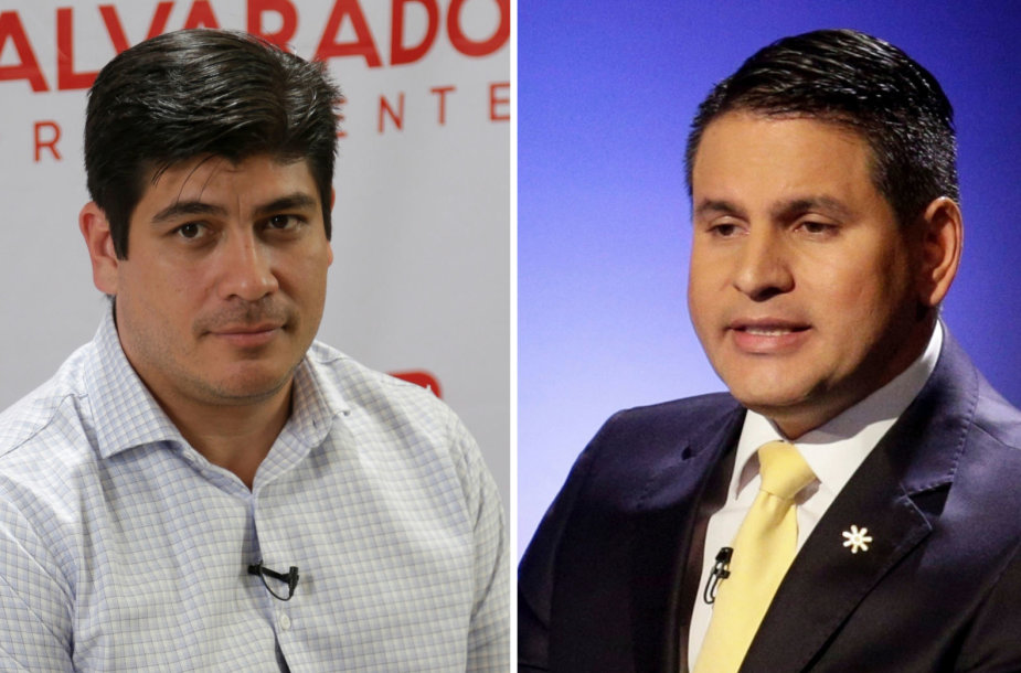 Carlosas AlvaradoQuesada ir Fabricio Alvarado Munozas