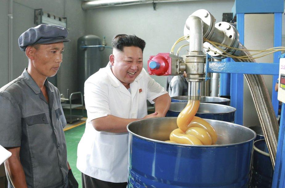 Kim Jong Unas gamykloje