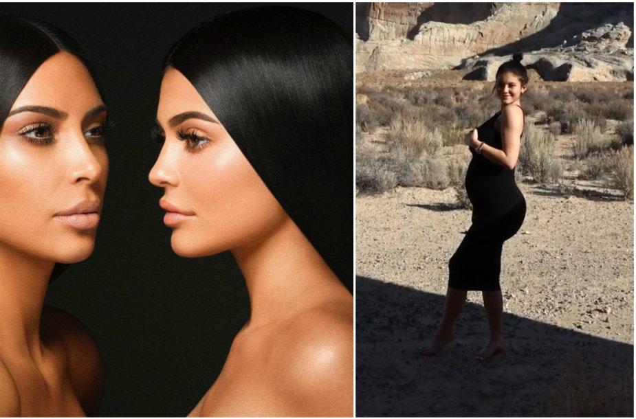 Kim Kardashian ir Kylie Jenner