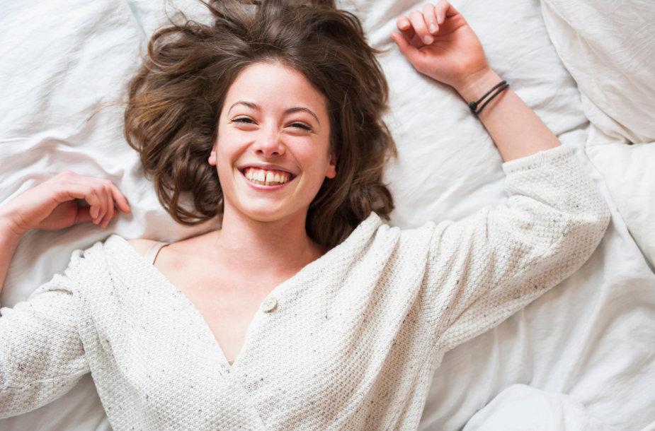 Laiminga moteris