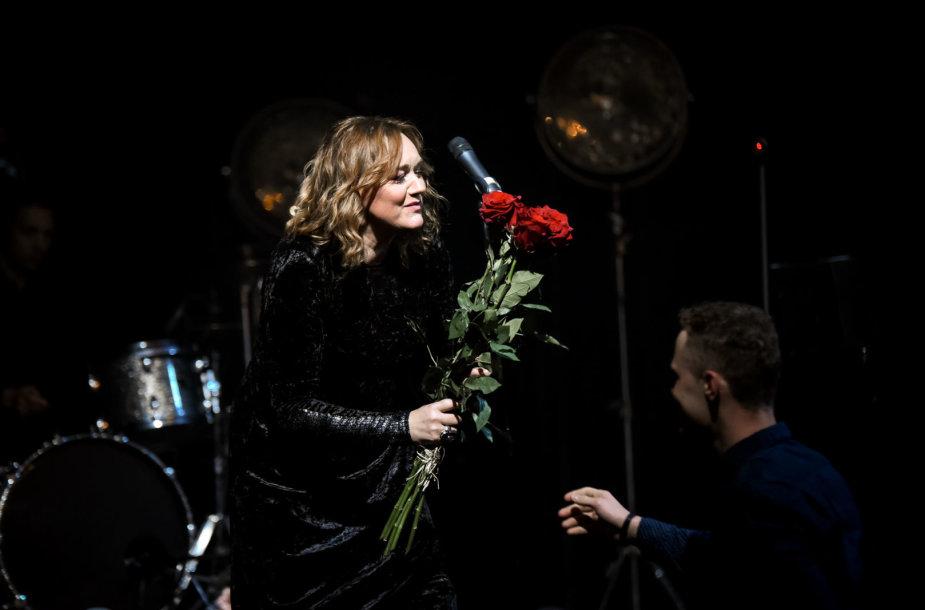 Rositos Čivilytės šventinio koncerto akimirka