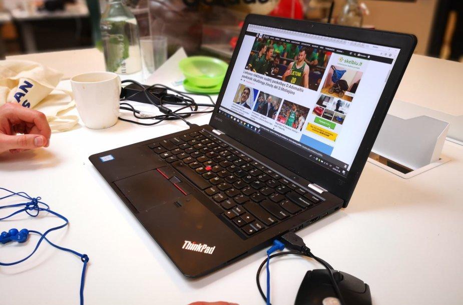 """""""Lenovo ThinkPad"""" nešiojamasis kompiuteris"""