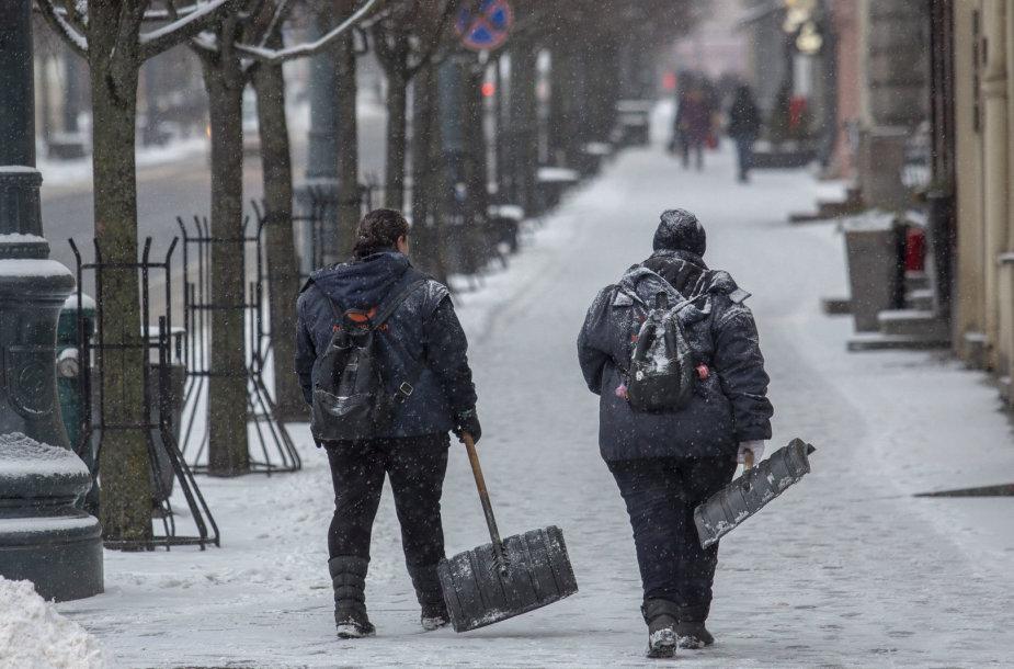 Ketvirtadienio eismo sąlygos Vilniuje