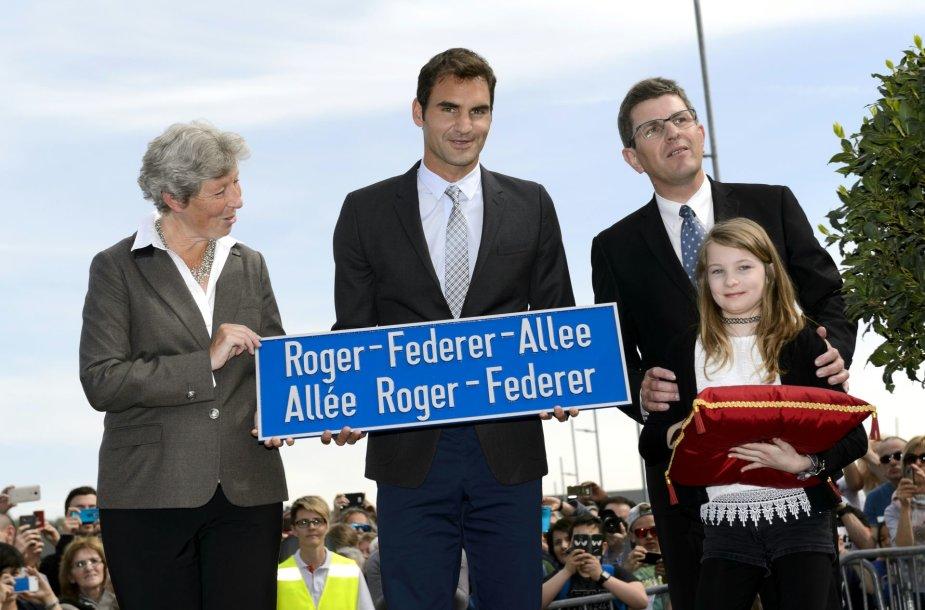 Rogerio Federerio alėjos atidarymo ceremonija