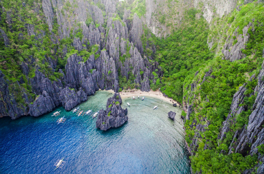 El Nido kurortas, Secret Lagoon paplūdimys, Palavano sala, Filipinai