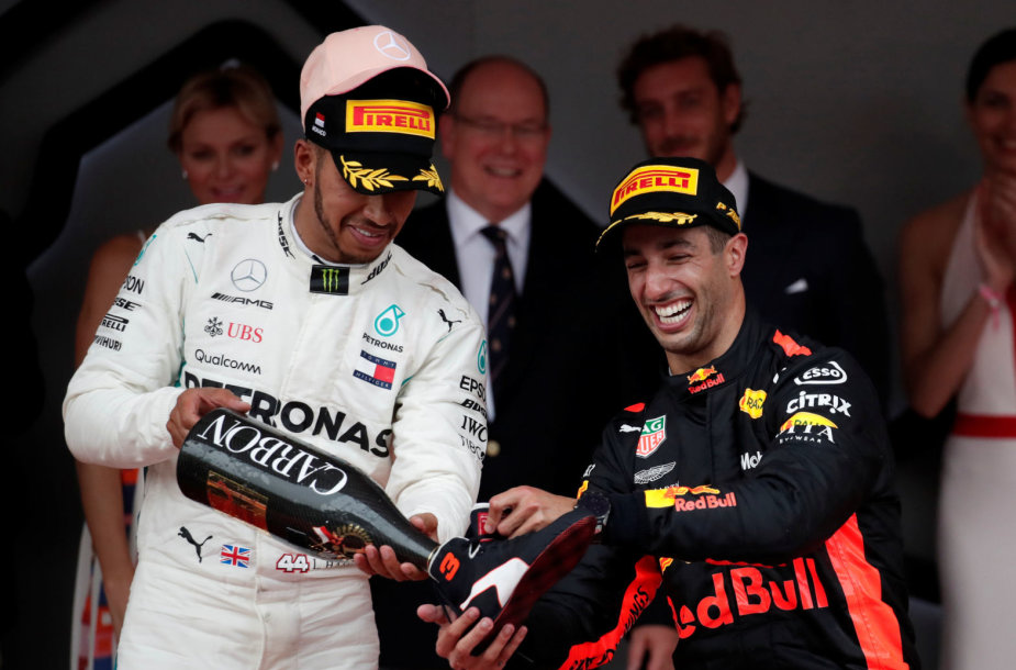 """Formulės 1"" lenktynes Monake laimėjo Danielis Ricciardo (""Red Bull"")"