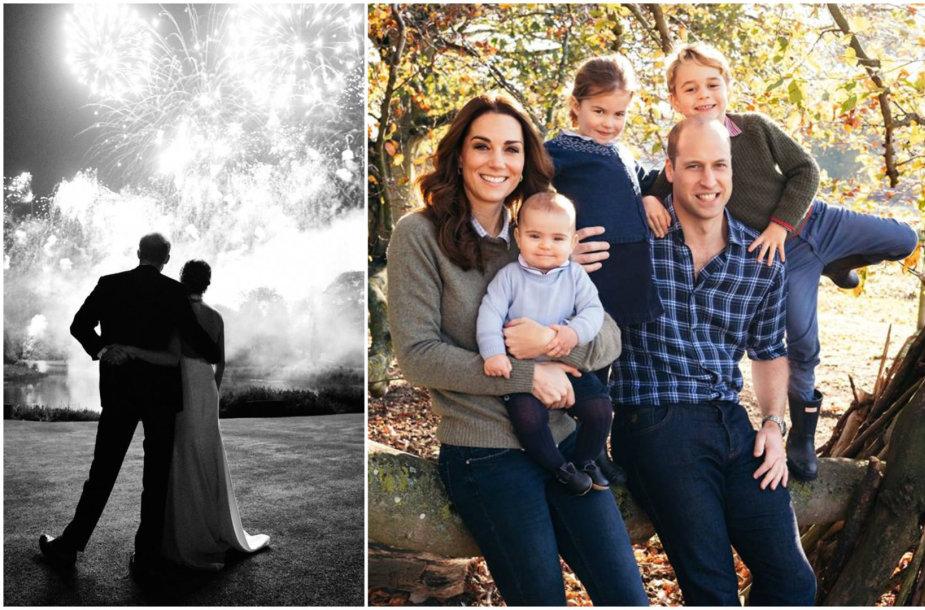Harry ir Meghan vestuvės bei princas Williamas ir Kembridžo hercogienė Catherine su vaikais