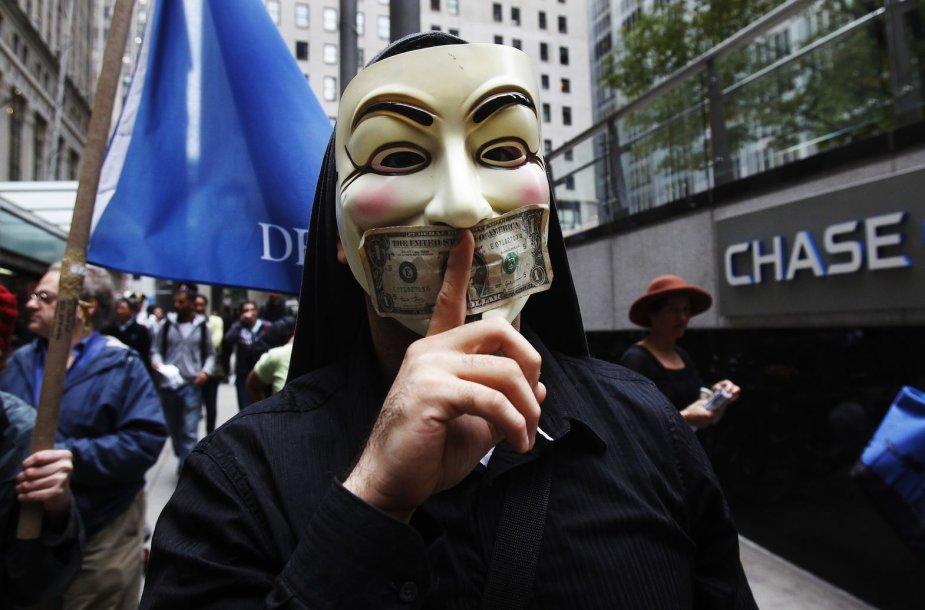 """Protestas prie """"JPMorgan Chase"""" banko"""