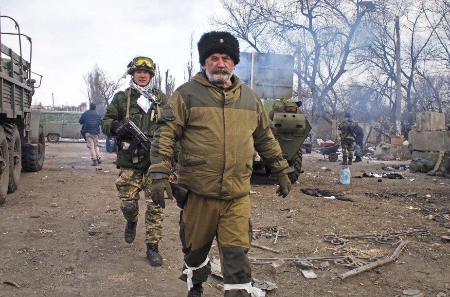 Rusijos kazokų lyderis Nikolajus Kozicynas