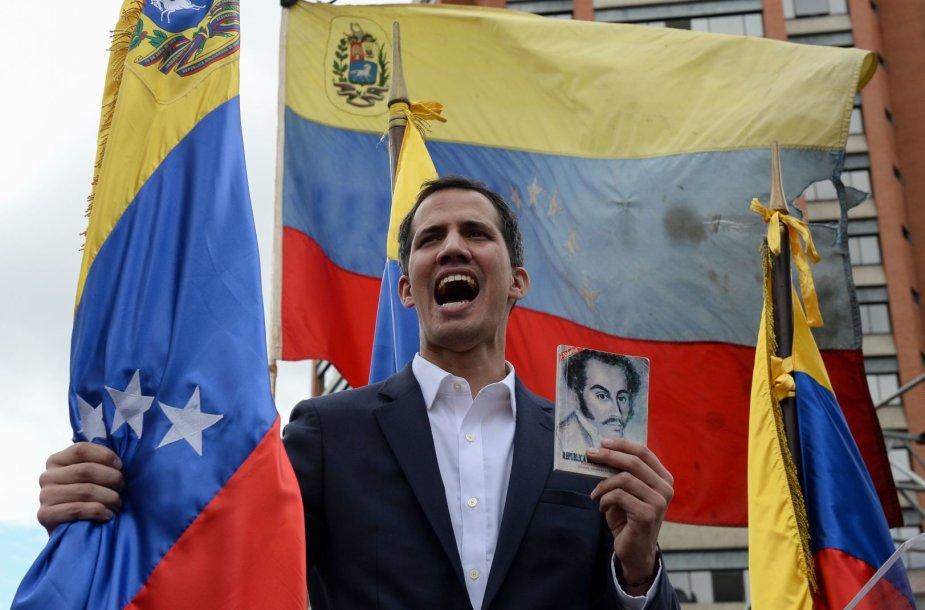 Venesuelos prezidentu pasiskelbęs Juanas Guaido