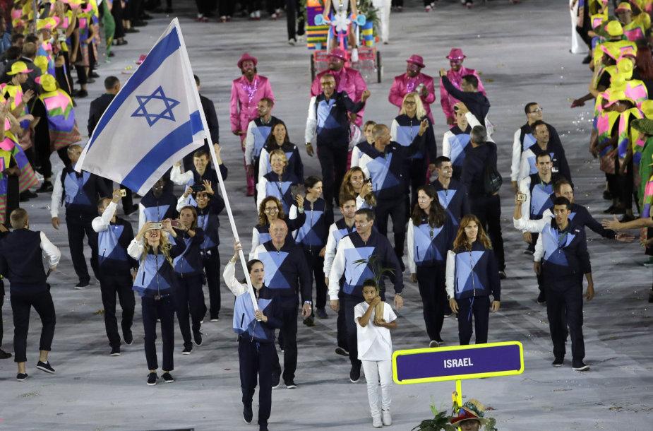 Izraelio olimpiečių delegacija per atidarymo ceremoniją