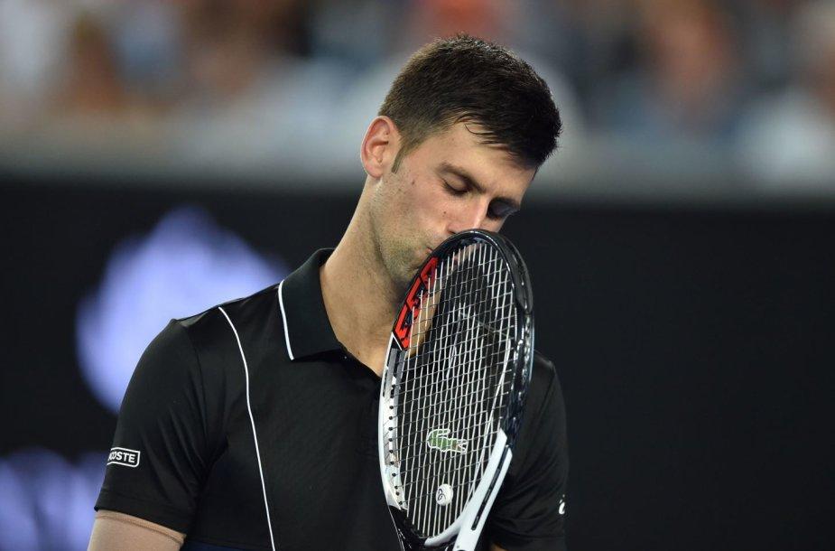 """Novakas Džokovičius pasiekė """"Australian Open"""" aštuntfinalį"""