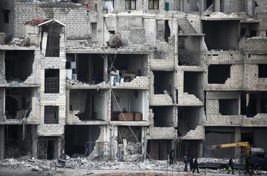 Rytų Guta be paliovos bombarduojama