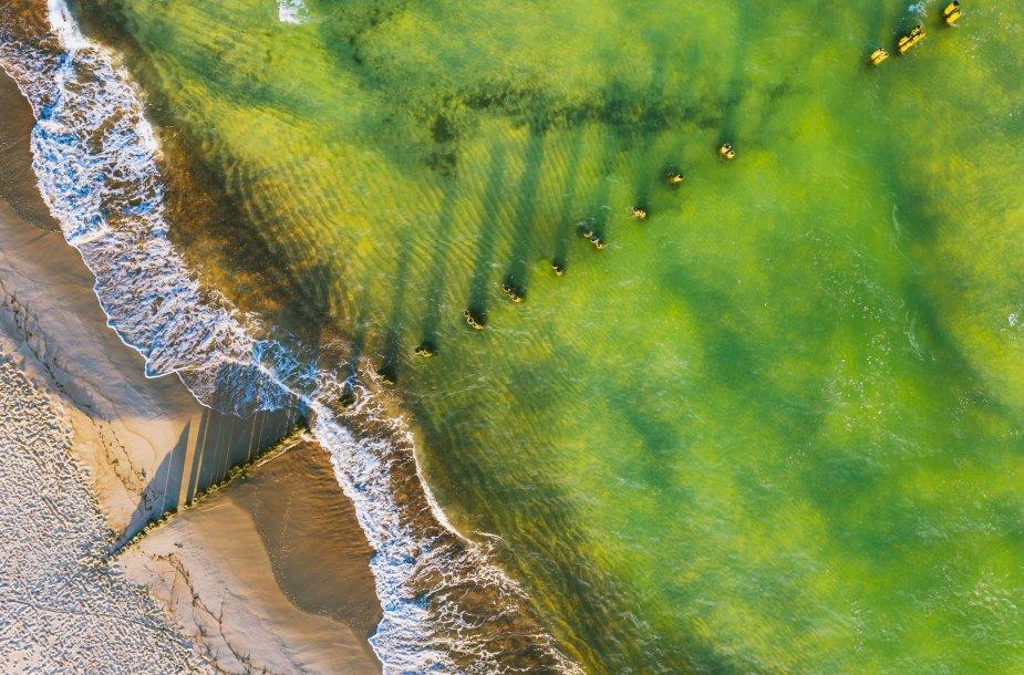 Neringa: Preilos paplūdimys iš Paukščio skrydžio