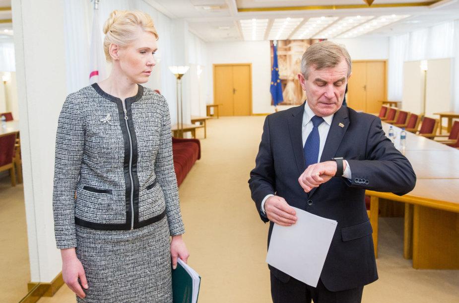 Laura Matjošaitytė ir Viktoras Pranckietis