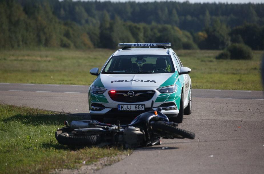 Minsko pl. avarijos metu žuvo motociklininkas