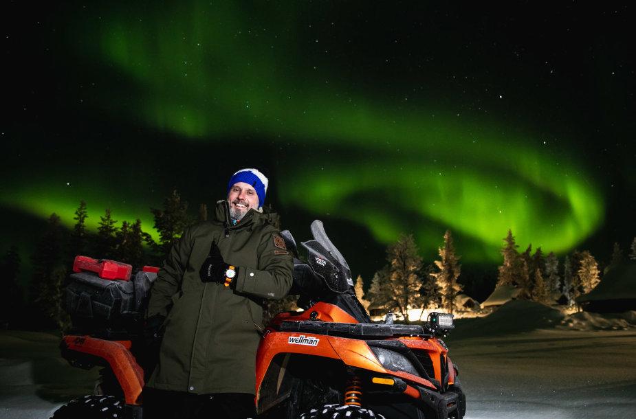 Karolis Mieliauskas keturračiu pervažiavo Laplandiją
