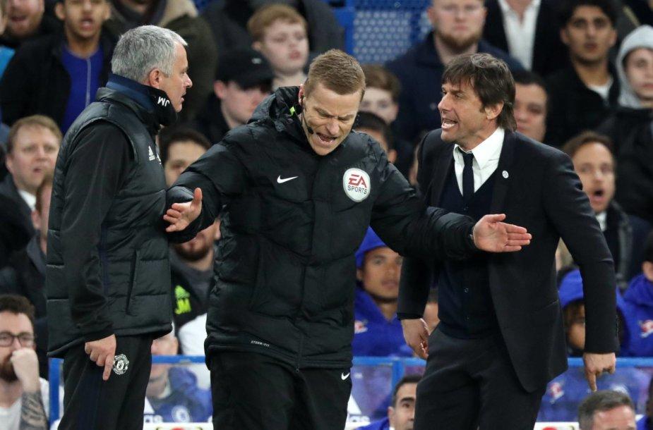 Jose Mourinho ir Antonio Conte