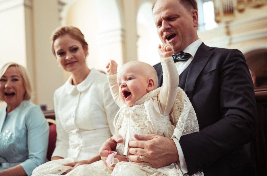 Kristina Zmailaitė ir Edmundas Seilius su dukra Elžbieta