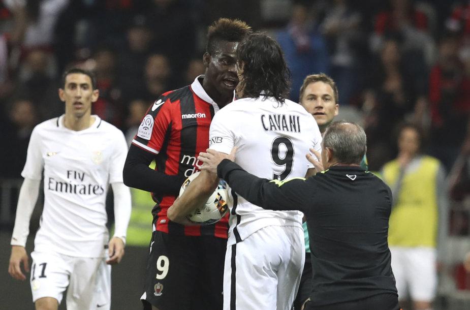 Mario Balotelli ir Edinsonas Cavani